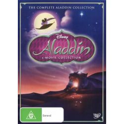 The Complete Aladdin Collection (Aladdin / The Return of Jafar / Aladdin and the King of Thieves) on DVD.