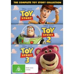 Toy Story 1, 2 & 3 on DVD.