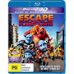 Escape From Planet Earth (3D Blu-ray/Blu-ray/UV) (3D for 3D TV's only) on DVD.