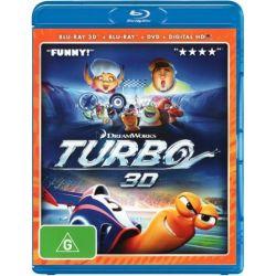 Turbo (2014)(Blu-ray 3D/Blu-ray/DVD/UV) on DVD.