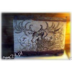 Deska sosnowa ręczne wypalanie w drewnie król elfów leśnych Obrazki i ramki