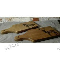 Drewniane, ręcznie wypalane podkładki seria las Przedmioty ręcznie wykonane