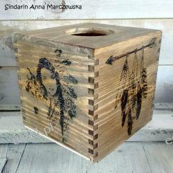 Drewniany, ręcznie wypalany chustecznik z indiańskimi motywami Obsługa klienta