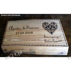 Naturalna, drewniana, ręcznie wypalana, rustykalna deska do krojenia Deski do krojenia