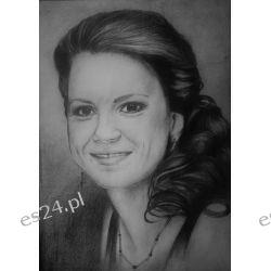 Portret w ołówku A4, ze zdjęcia Obrazki i ramki