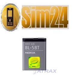 Bateria NOKIA BL-5BT ORIGINAL/BULK 7510/N75/2600c