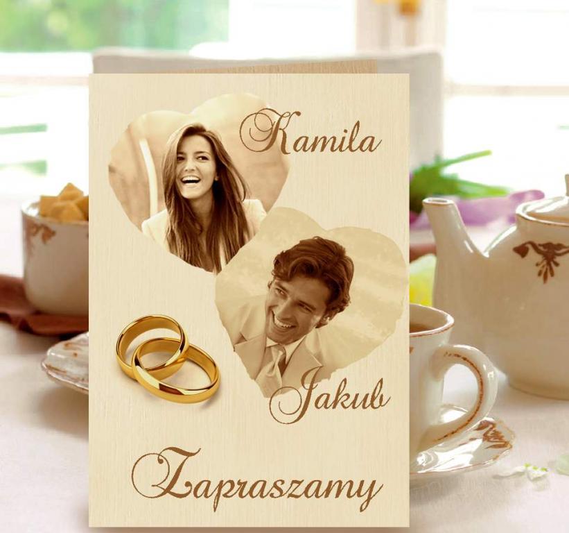 Zaproszenia ślubne Ze Zdjęciem Na ślub Koperta Na Bazarekpl