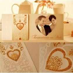 Zaproszenia ślubne, ze zdjęciem, na ślub +KOP+BIL.