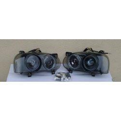 KOMPLET VW GOLF 3 III BLACK PROJEKTORY NOWE LAMPY Kompletne