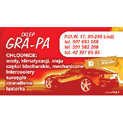 SKLEP GRA-PA P.O.W. 17 90-248 ŁÓDŹ Biuro i Reklama