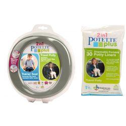 Nocnik i nakładka na WC Potette Plus 2w1+33 wkłady