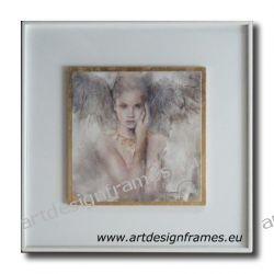 IGP 1264 H, aniołki, nowoczesne obrazy do ładnego wnętrza, obrazy w białych ramach,