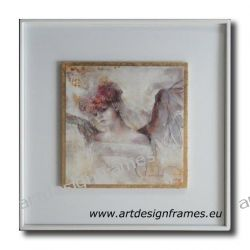 IGP 1265 H, anioły, nowoczesne obrazy do ładnego wnętrza, obrazy w białych ramach,