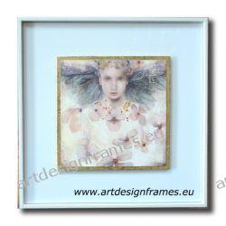 IGP 3268 H, anioły i aniołki, nowoczesne obrazy do ładnego wnętrza, obrazy w białych ramach,