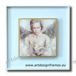 IGP 3271 H, anioł stróż, nowoczesne obrazy do ładnego wnętrza, obrazy w białych ramach,