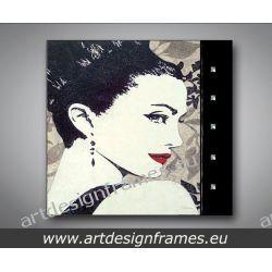 A 6390, nowoczesne obrazy do salonu, luksusowe obrazy glamour, portret kobiety