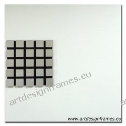 Abst. 604, nowoczesny biały obraz na ścianę, duży oryginał, abstrakcja, kolaż