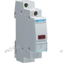 Hager Lampka sygnalizacyjna LED czerwona 230V AC SVN122