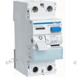 Hager RCCB Wyłącznik różnicowoprądowy 2P 40A/30mA Typ AC CDC240J