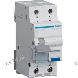 Hager RCBO Wyłącznik różnicowoprądowy z członem nadprądowym 1P+N 6kA B 16A/30mA Typ AC ADC916D