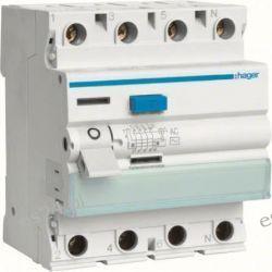 Hager RCCB Wyłącznik różnicowoprądowy 4P 25A/30mA Typ AC CDC425J