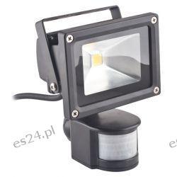 Oprawa lampa naświetlacz halogen Led 10W barwa zimna z czujnikiem ruchu PIR