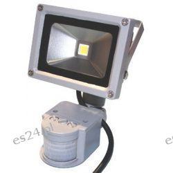 Oprawa lampa naświetlacz halogen Led 10W barwa zimna z czujnikiem ruchu i zmierzchu