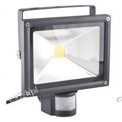 Oprawa lampa naświetlacz halogen Led 20W barwa ciepła z czujnikiem ruchu PIR
