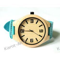 Drewniany zegarek KLON niebieski