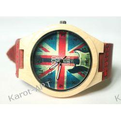 LIMITOWANY! Drewniany zegarek z motywem brytyjskim