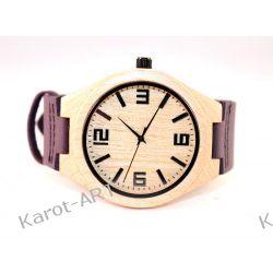 Drewniany zegarek KLON lawendowy