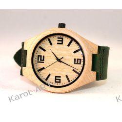 Drewniany zegarek KLON zielony