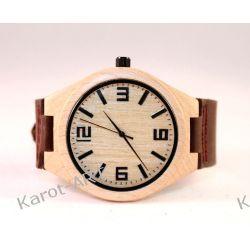 Drewniany zegarek KLON brązowy