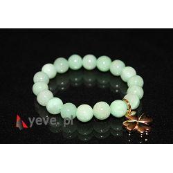 Bransoletka Kamień Marmurek 10 mm - zielony