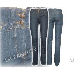 ex CLOCKHOUSE ciemny jeans slim fit zgrabne kantka