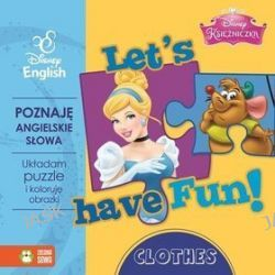 Disney English. Disney Księżniczka. Let's have Fun! Clothes + puzzle