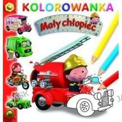 Wóz strażacki. Kolorowanka. Mały chłopiec