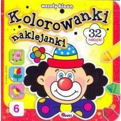 Kolorowanki naklejanki Wesoły klaun