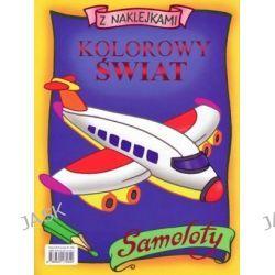 Kolorowy świat z naklejkami. Samoloty