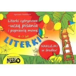 Literki. Literki cytrynowe - uczą pisania i poprawią mowę (4-7 lat) + naklejki - Agnieszka Paszkiewicz