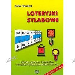 Loteryjki sylabowe. Ksiazka + 60 kart - Zofia Handzel