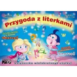 Przygoda z literkami (4-7 lat) + naklejki i pisak - Agnieszka Paszkiewicz