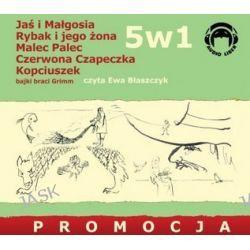 Jaś i Małgosia/Rybak i jego żona/Malec-Palec/Czerwona Czapeczka/Kopciuszek - książki audio na CD - pakiet 5w1 (CD) - Wilhelm Grimm, Jakub Grimm