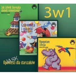 Pakiet Opowieści dla starszaków: Czraownica i cukierki. Hipopotam i frezja. Jak żółwik skorupka domek remontował - audiobook (CD)