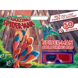 Amazing Spider-man Colouring Pad, Amazing Spider-Man, 9781742834764.