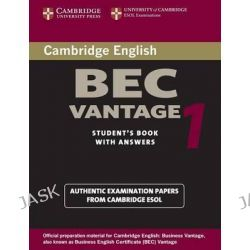 Cambridge BEC Vantage 1, Practice Tests from the University of Cambridge Local Examinations Syndicate by University of Cambridge Local Examinations Syndicate, 9780521753043.