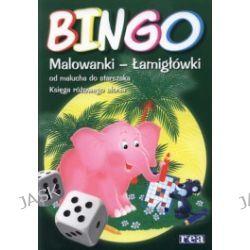 Bingo. Malowanki - łamigłówki od malucha do starszaka. Księga różowego słonia