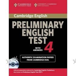 Cambridge Preliminary English Test 4 Self-study Pack, Examination Papers from the University of Cambridge ESOL Examinations by Cambridge ESOL, 9780521755320.