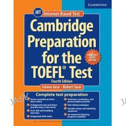 Cambridge Preparation for the TOEFL Test Book with Online Practice Tests and Audio CDs (8) Pack by Jolene Gear, 9781107685635.