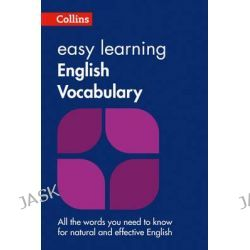Collins Easy Learning English - Easy Learning English Vocabulary, Collins Easy Learning English by Collins Dictionaries, 9780008101770.